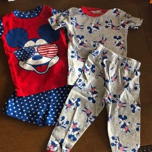 2 pack Mickey Mouse PJs 3T